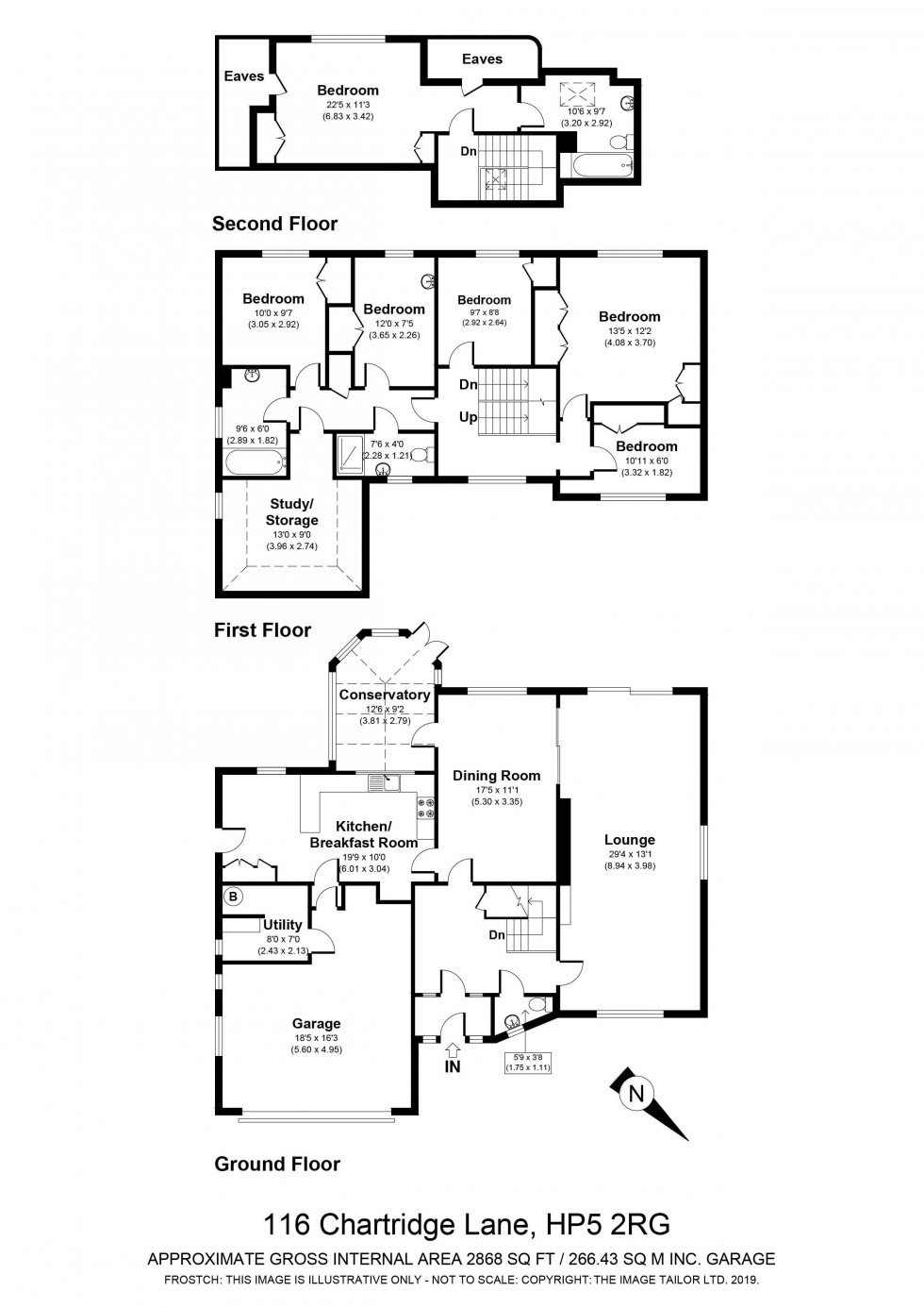 Floorplan for Chartridge Lane, Chesham, HP5