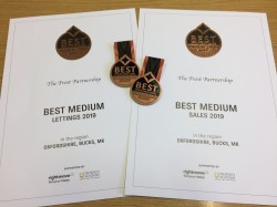 Officially one of the very best estate agents in the country!
