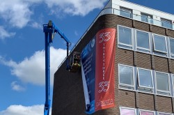 Giant banner flags new homes in Ashford